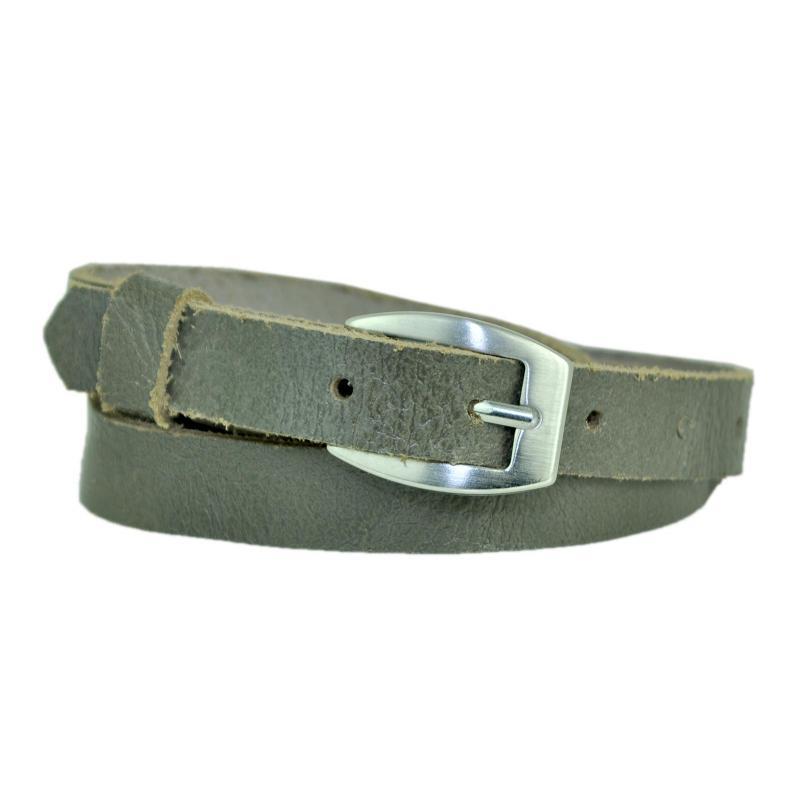 Royal Blau Schmal 2cm Breit Echt Leder Guertel mit 4 Eckiger Schnalle Wählbar aus 11 Längen