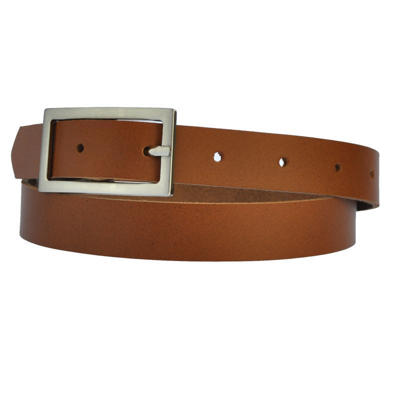 Hell Braun Schmal 2cm Breit Echt Leder Guertel mit 4 Eckiger Schnalle Wählbar aus 11 Längen