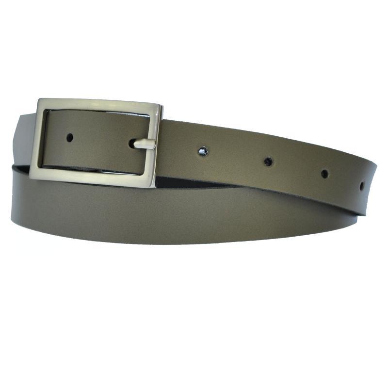 NL-Grau Schmal 2cm Breit Echt Leder Guertel mit 4 Eckiger Schnalle Wählbar aus 11 Längen