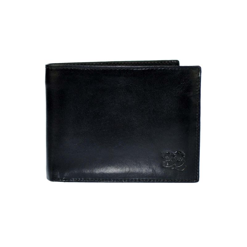d277c4d4f054d DayneQ Leder Portemonnaie Geldbörse für Männer Quer Format Echt Leder  Schwarz