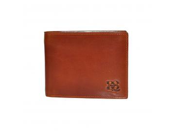 888d1bc8d93a1 DayneQ Leder Portemonnaie Geldbörse für Männer Quer Format Echt Leder TAN
