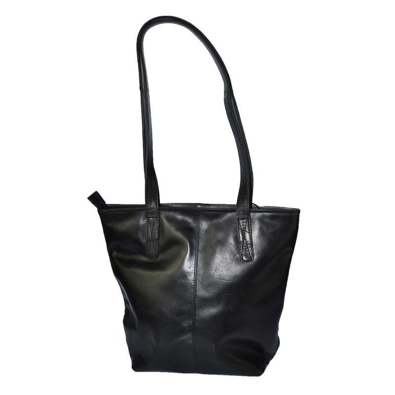 Luxus Handtasche aus hochwertigen Echt Leder Schwarz
