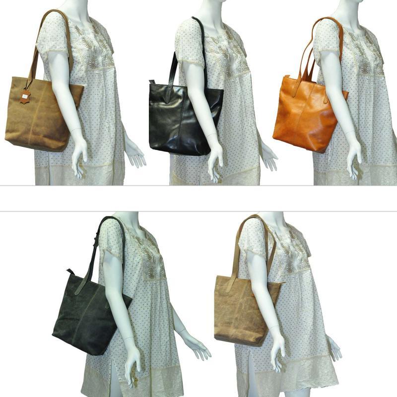 Luxus Handtasche aus hochwertigen Echt Leder Schwarz Wintage