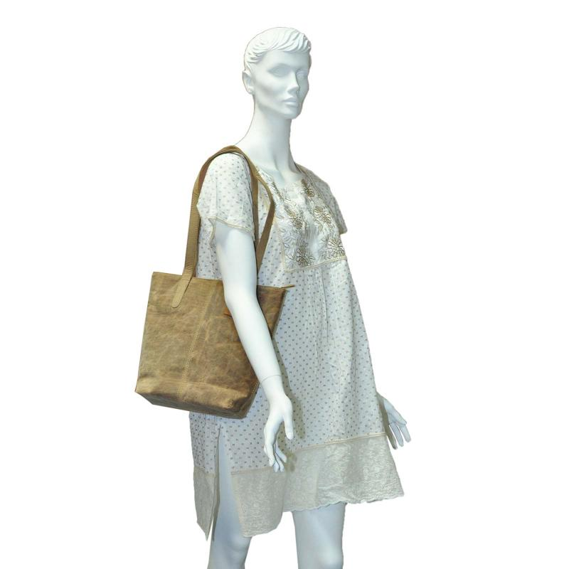 Luxus Handtasche aus hochwertigen Echt Leder TAN Wintage