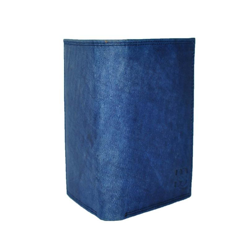 Blau Wintage Look Ledergeldbörsen aus echtem Leder in Hochformat