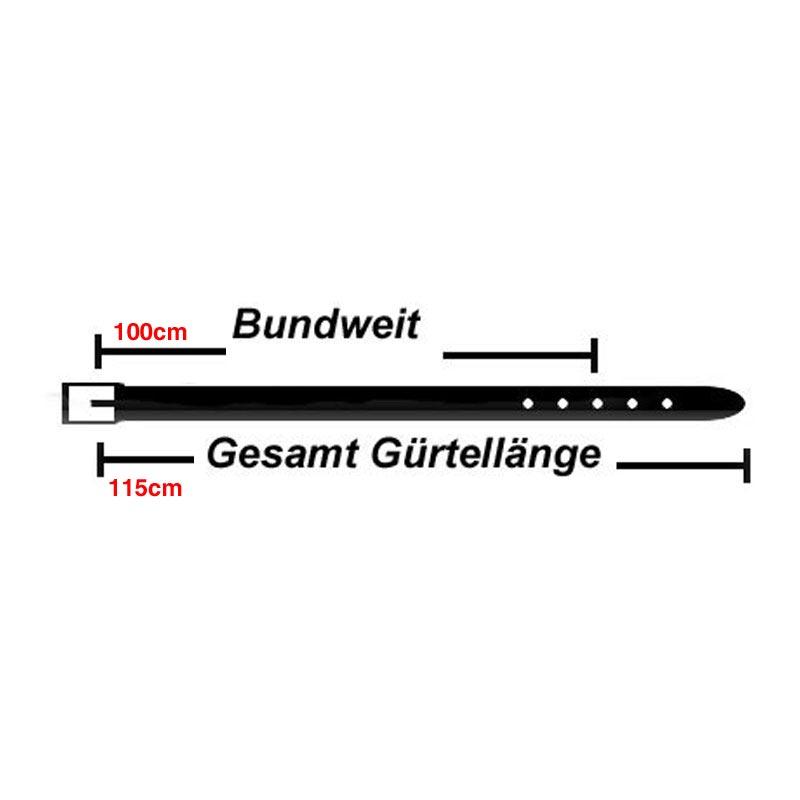 3,5cm Breit Echt Leder Guertel mit 4 Eckiger Schnalle Wählbar aus 11 Längen Hell Braun, ES-Grau, ES-Natur oder ES-Weinrot