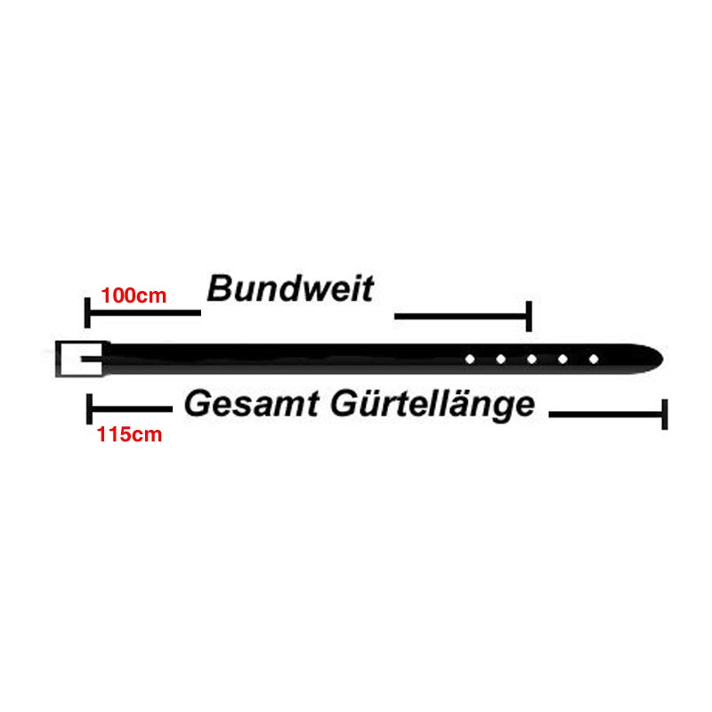 3,5cm Breit Echt Leder Guertel mit 4 Eckiger Schnalle Wählbar aus 11 Längen Gelb, Dunkel Gruen, Hell-Blau Oder Gruen