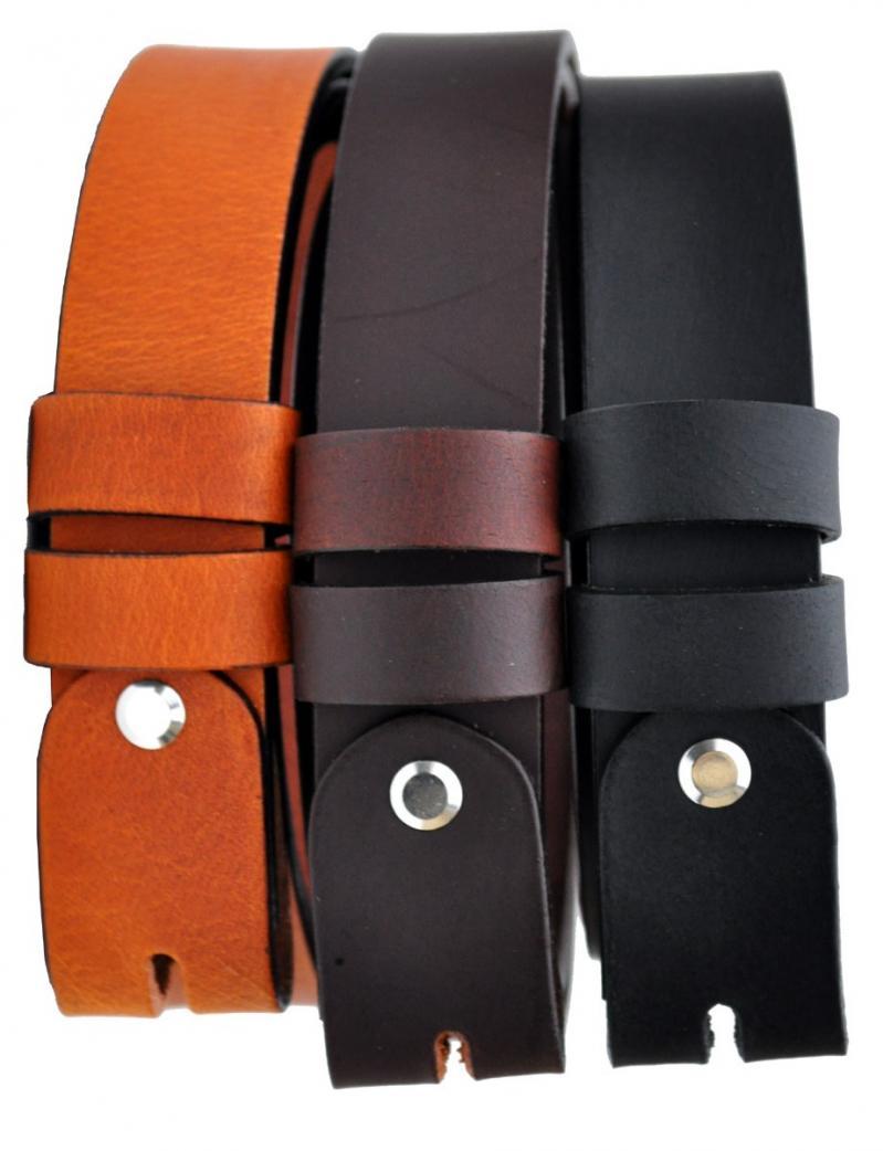 3,5mm Dick VOLL Leder Guertel Echtleder Real Leather OT30-OS