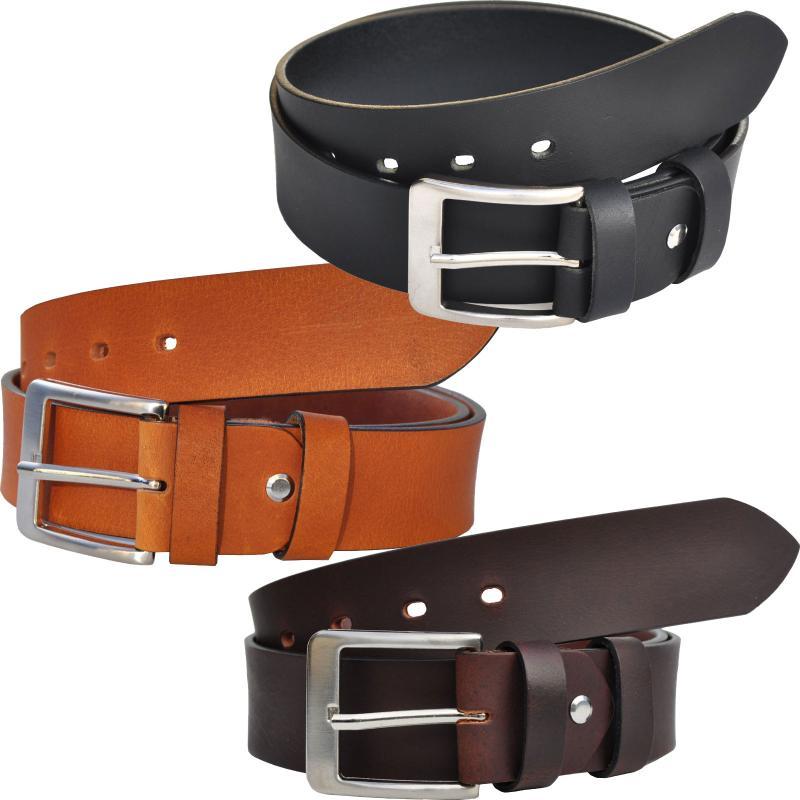 4cm Breit VOLL Leder Guertel Echtleder Real Leather OT40