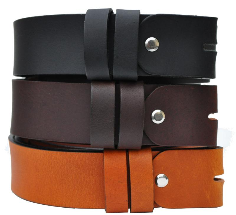 4cm Breit VOLL Leder Guertel Echtleder Real Leather Ohneschnalle OT40OS