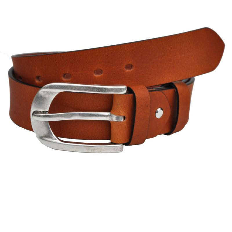 Mit Altsilber Schnalle 4cm Breit VOLL Leder Guertel Echtleder Real Leather OT40-22669