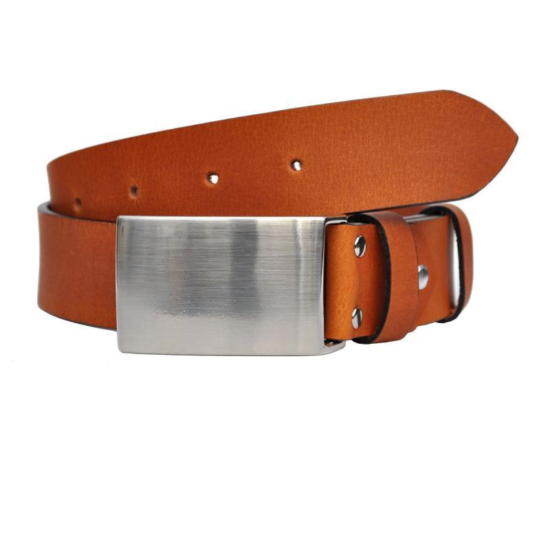 4cm Breit VOLL Leder Guertel Echtleder Real Leather OT40-KOPEL-NK
