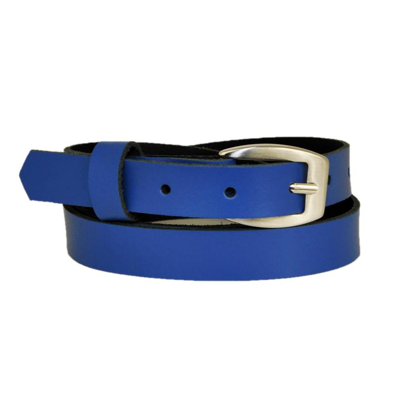 Schwarz Schmal 2cm Breit Echt Leder Guertel mit Farbe Wählbar aus 11 Längen