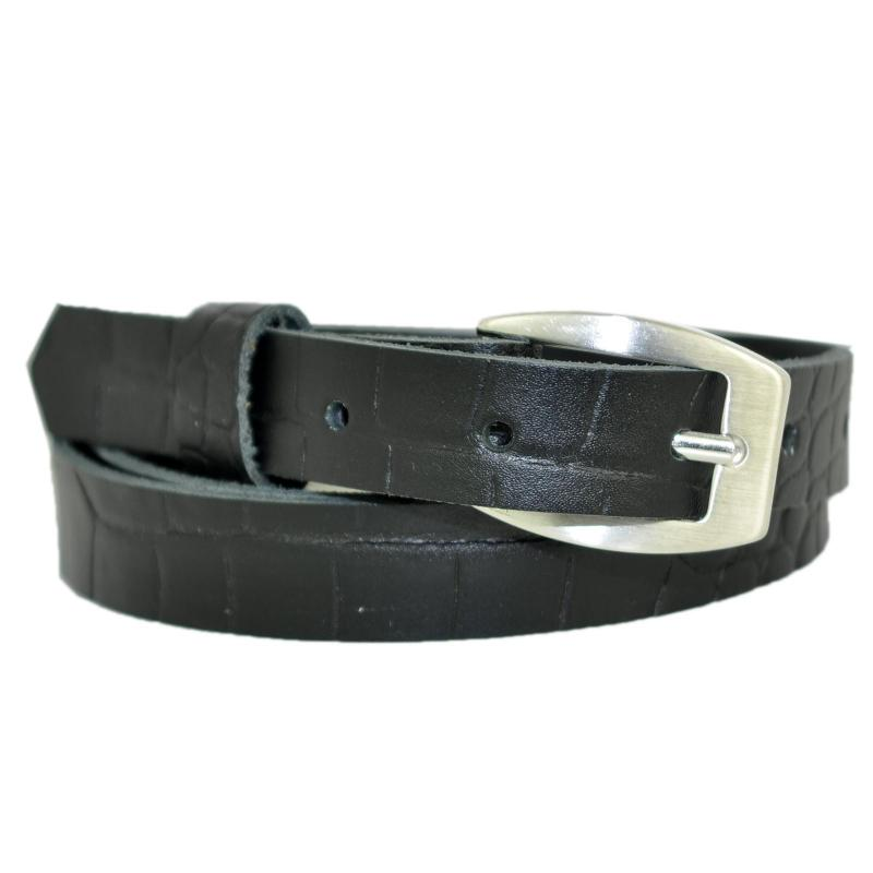 Greun Schmal 2cm Breit Echt Leder Guertel mit Farbe Wählbar aus 11 Längen